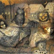 October Dreams, multi-media, digitally enhanced