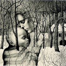 Mother and Child, print