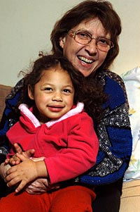 Leni Sinclair with granddaughter, Beyonce Sinclair-Woodard.