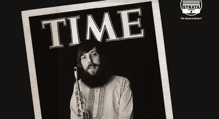 Larry Nozero on the cover of Time, Strata Records,