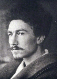 Ezra Pound photographed as a young man in 1913 by Alvin Langdon Coburn