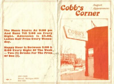 Incognito - Cobbs Corner - outside cover