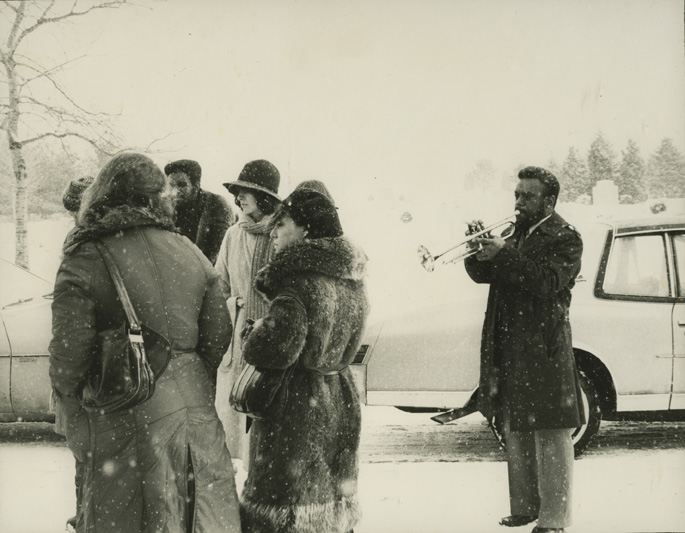 Henry Normile's Funeral with Marcus Belgrave, photo by Leni Sinclair, 1979