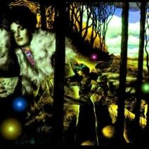 Autumn, oil painting, digitally enhanced