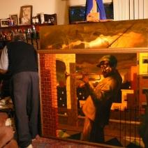 Howard in his studio, 2005