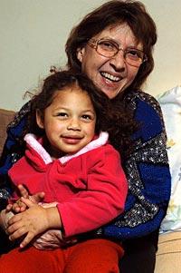Leni Sinclair with granddaughter, Beyonce Sinclair-Woodard.
