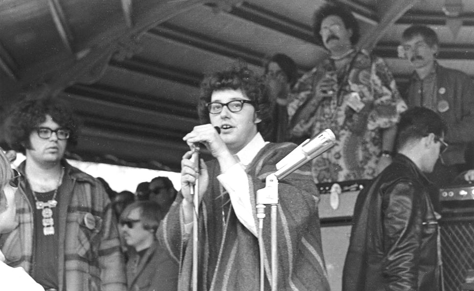 Rob Tyner at the Detroit Love-In, April 30, 1967