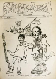 Monteith Journal, Vol.2 #4, April 25, 1961, George Tysh, editor. Cuban invasion cartoon by Chuck Logan