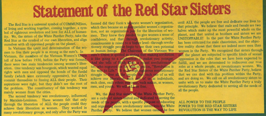 red star sisters white panther party